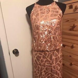 DONNA MORGAN maxi long sequined dress